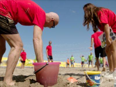 team building sulla spiaggia di riccione