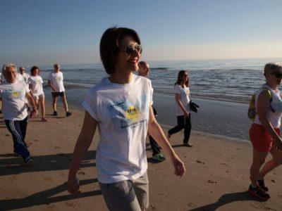 camminata sulla spiaggia di Riccione